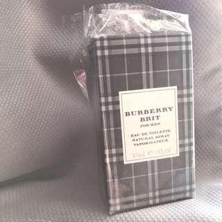 burberry brit for men 30ml 香水盒