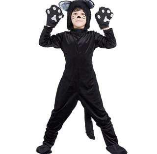 🚚 萬聖節變裝黑貓服