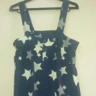 Overall Motif Star Piper&Blue