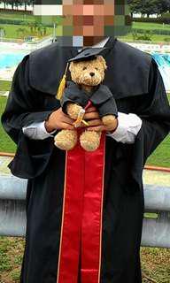 Graduation gown Temasek Poly Business