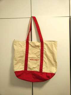🈹moussy big canvas bag  帆布袋 (包平郵)