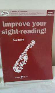 Faber music improve your sight reading violin 5,6,7-8