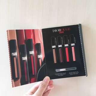 (1包)Dior Rouge Dior Liquid Lipstick 傲姿魅彩唇釉 (4*0.4ml 4色試用裝 sample)