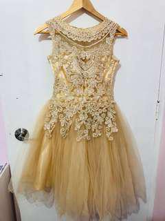 FOR RENT: Designer Champagne/Nude Cocktail Dress