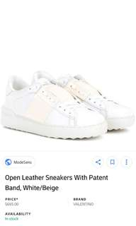 Valentino garavani open toe bicolor rockstud sneakers