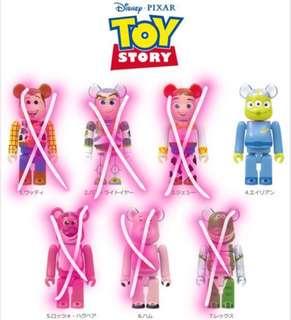 Toy story Pixar Bearbrick 三眼仔 一番