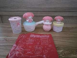 McDonald's My Melody 麥當勞 吹泡泡器 牙刷杯 樽 一套4款