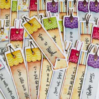 Quote Kraft Bookmark