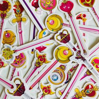 Sailor Moon Staff Kraft Bookmark