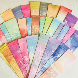 Watercolor Place Kraft Bookmark