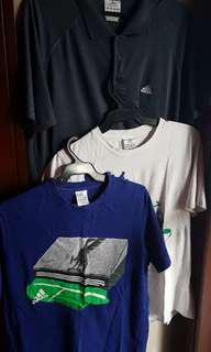 SET OF 3:ADIDAS MEN'S CLIMACOOL&LIMITED ED SHIRTS,SIZE L/XL