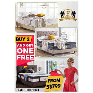 My President Mattress Buy 2 Get one Free From $799
