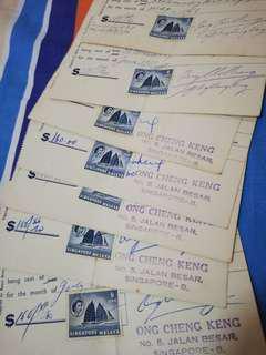 Rent receipt From May-Nov 1960 7pcs