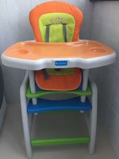 Lucky baby 2-in-1 high chair