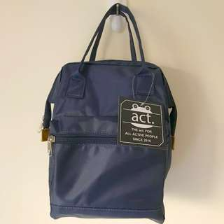 ❤️ ACT. ladies girl navy colour backpack 背囊 休閑袋 背包 醫生袋