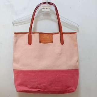 💓 包順豐 ! 購自日本 ! 名牌 Burberry Blue Label 粉紅橙色 手袋 志在清屋 無視議價問題 !