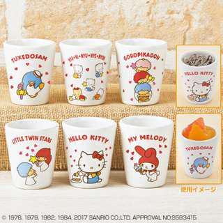 (清屋平賣*包郵) Sanrio Tuxedosam & Nya.Ni.Nyu.Nye.Nyon & Goropikadon & Little Twin Stars & Hello Kitty & My Melody 迷你杯仔