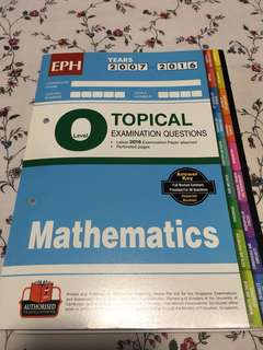Topical Examination Questions Mathematics Year 2007-2016