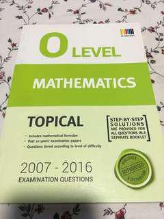 O Level Mathematics Topical Yrs 2006-2016