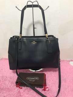 Coach double zipper