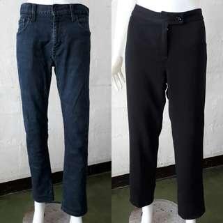 XL jeans and black trouser bundle
