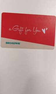 Sale ❤️ 百老匯 Broadway gift card