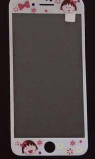 🚚 Iphone7plus /iphone8 plus 卡通鋼化玻璃保貼 小丸子