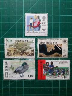 [贈品]1980-90年代 紀念新票五枚