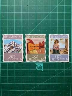 [均一價$10]1975 瑞士 歐盟週年紀念 新票一套