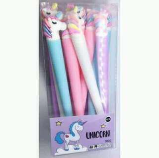Unicorn Gel Pen (6 pcs.)