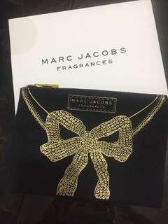 Marc Jacobs 金色蝴蝶化妝布袋