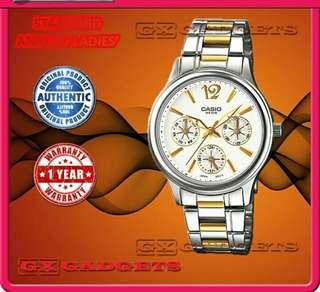 💋💋💋6折全新行貨卡西歐女裝行針防女鋼錶-40% Off Brand New Casio Ladies Water Resistance Analog Metal Watch