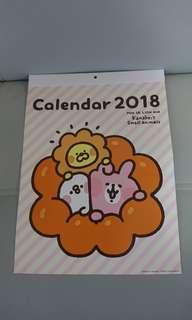 全新 日本 mister donut Pon De Lion 掛曆