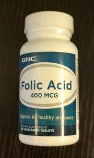 購自萬寧 保證正貨 GNC 葉酸 Folic Acid 400 MCG 100 tablets