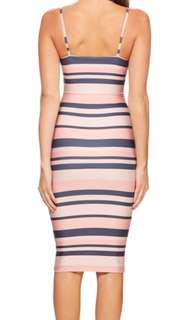 Kookai stripe pink dress
