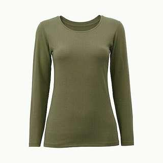 UNIQLO Heattech Extra Warm Crewneck Long Sleeve (Green M)