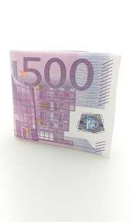 Euro Money Print Short Wallet