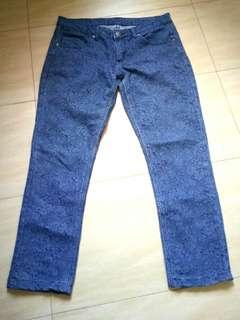 Ladylike Navy Blue Lace Jeans