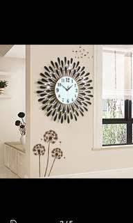 Large Beautiful Crystal Wall Clock