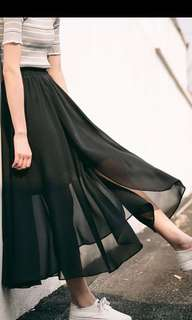 全新 黑色 半透 網紗 裙