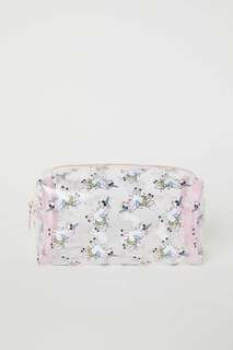 H&M unicorn light pink makeup bag