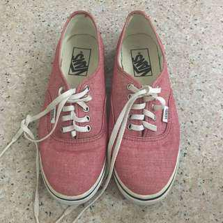 Authentic Womens Red Vans Shoes