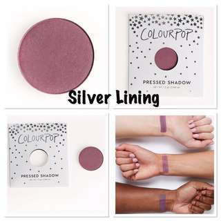 Authentic Colourpop Silver Lining Matte Pressed Powder Shadow