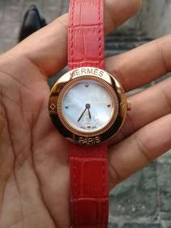 Hermes Gold Rose Round Watch SWISS MADE Leather 1:1