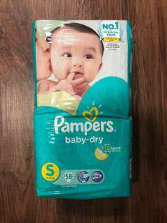 Pampers Size S baby-dry diapers