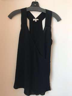 Aritzia Wilfred crossover blouse size xs