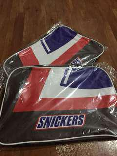 Unisex snickers leather duffel bag (2 stocks)