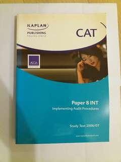 ACCA Paper 8 INT