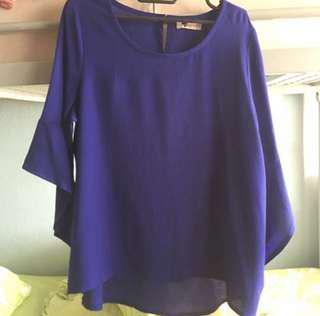 TEMT blue blouse