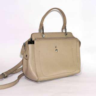 GOOD QUALITY LEATHER Beige Shoulder/Cross body Bag